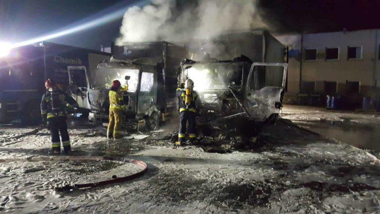 Pożar w hurtowni ul. Kopanina