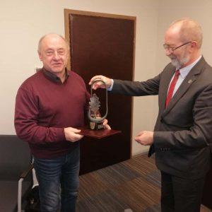 Paweł Bączyk z nagrodą wójta Komornik