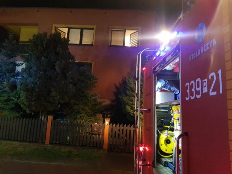 pożar w Komornikach