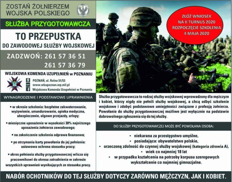 przeszkolenie wojskowe - plakat