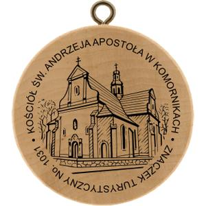 znaczek turystyczny kościół w komornikach